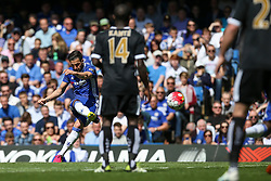 Cesc Fabregas of Chelsea free kick hits the wall - Mandatory byline: Jason Brown/JMP - 15/05/2016 - FOOTBALL - London, Stamford Bridge - Chelsea v Leicester City - Barclays Premier League