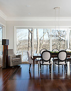 Dining and Kitchen. The Barnhart home on the Scioto River. (Will Shilling/Columbus Monthly)