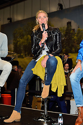 © Licensed to London News Pictures. 18/02/2016. JODIE KIDD talks at the launch of the London Classic Car Show.  The four day event brings together classic car owner, dealers, collectors, experts and enthusiasts. London, UK. Photo credit: Ray Tang/LNP
