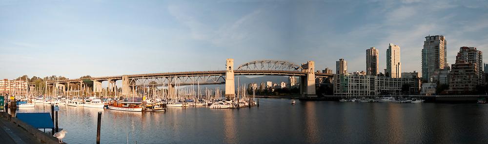 Burrard Bridge and City Panorama. Vancouver, British Columbia