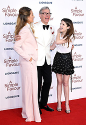 Blake Lively (left), Director Paul Feig and Anna Kendrick attending the Premiere of A Simple Favour held at The BFI Southbank, Belvedere Road, London. Picture credit should read: Doug Peters/EMPICS