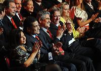 20120227: LISBON, PORTUGAL - SL Benfica 108th anniversary gala at Coliseu dos Recreios in Lisbon, Portugal.<br /> In photo: Eusebio, Luis Filipe Vieira and Jorge Jesus.<br /> PHOTO: Alvaro Isidoro/CITYFILES
