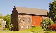 Berks County, Pennsylvania, rural stone bank barn and farmhouse