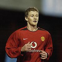 Fotball<br /> Manchester United v Aston Villa<br /> Reserves game at Altrincham.<br /> 05/02/2004.<br /> Ole Gunnar Soilskjær<br /> <br /> Foto: Digitalsport