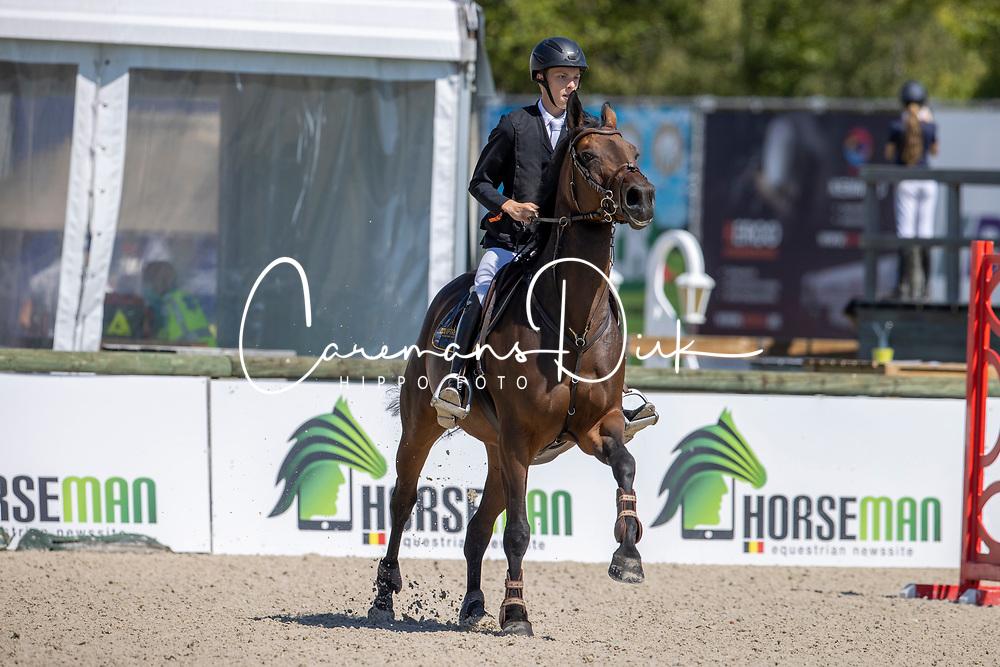 Vicini Nathan, BEL, Alexia des Hauts Droits<br /> Belgisch Kampioenschap Jeugd Azelhof - Lier 2020<br /> <br /> © Hippo Foto - Dirk Caremans<br /> 30/07/2020