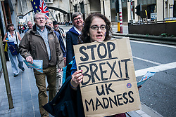September 5, 2017 - Brussels, Bxl, Belgium - Anti-Brexit activists take part in March against Brexit in front of EU headquarters  in Brussels, Belgium on 05.09.2017 by Wiktor Dabkowski (Credit Image: © Wiktor Dabkowski via ZUMA Wire)