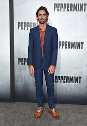 August 28, 2018 - Hollywood, California, U.S. - Tyson Ritter arrives for the premiere of the film 'Peppermint' at the Regal Cinemas LA Live theater. (Credit Image: © Lisa O'Connor/ZUMA Wire)
