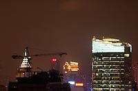 construction at night in Shanghai China