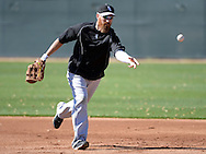 GLENDALE, AZ - FEBRUARY 25:  Adam LaRoche #25 of Chicago White Sox fields during spring training workouts on February 25, 2015 at The Ballpark at Camelback Ranch in Glendale, Arizona. (Photo by Ron Vesely)   Subject:   Adam LaRoche