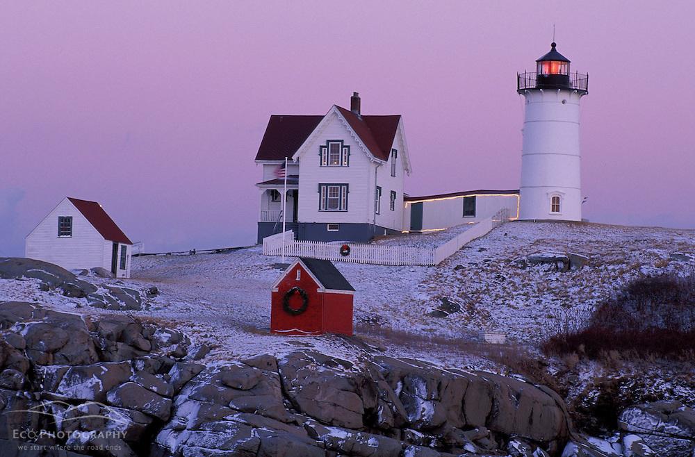 """""""The Nubble."""" Cape Neddick Lighthouse.  York, ME"""