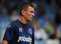 Portsmouth's Jed Wallace during the pre-match warm-up <br /> <br /> Photographer Kevin Barnes/CameraSport<br /> <br /> Football - The Football League Sky Bet League Two - Portsmouth v Newport County AFC - Saturday 30th August 2014 - Fratton Park - Portsmouth<br /> <br /> © CameraSport - 43 Linden Ave. Countesthorpe. Leicester. England. LE8 5PG - Tel: +44 (0) 116 277 4147 - admin@camerasport.com - www.camerasport.com