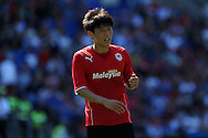 Cardiff city's Kim Bo-Kyung in action. Pre season friendly match, Cardiff city v Athletic Club Bilbao at the Cardiff city stadium in Cardiff,  South Wales on Saturday 10th August 2013. pic by Andrew Orchard,  Andrew Orchard sports photography,