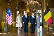 President Donald Trump meets King Filip of Belgium, Brussels 24-05-2017