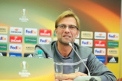 KAZAN, RUSSIA - Wednesday, November 4, 2015: Liverpool's manager Jürgen Klopp during a press conference at the Kazan Arena ahead of the UEFA Europa League Group Stage Group B match against FC Rubin Kazan. (Pic by Oleg Nikishin/Propaganda)