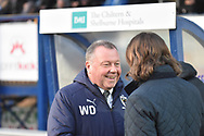 during the EFL Sky Bet League 1 match between Wycombe Wanderers and AFC Wimbledon at Adams Park, High Wycombe, England on 22 December 2018.