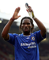 Photo: Paul Thomas.<br /> Blackburn Rovers v Chelsea. The FA Cup, Semi Final. 15/04/2007.<br /> <br /> Didier Drogba of Chelsea thanks the travelling fans.