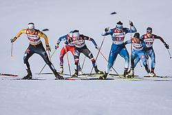 28.02.2021, Oberstdorf, GER, FIS Weltmeisterschaften Ski Nordisch, Oberstdorf 2021, Damen, Langlauf, Teamsprint, Freestyle, im Bild v.l.: Victoria Carl (GER), Eva Urevc (SLO) // f.l.: Victoria Carl of Germany Eva Urevc of Slovenia during women Cross Country team sprint freestyle competition of the FIS Nordic Ski World Championships 2021 in Oberstdorf, Germany on 2021/02/28. EXPA Pictures © 2021, PhotoCredit: EXPA/ Dominik Angerer