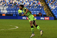 Forest Green's midfielder Ebou Adams heads the ball during the EFL Sky Bet League 2 match between Tranmere Rovers and Forest Green Rovers at Prenton Park, Birkenhead, England on 19 January 2021.