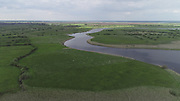 Aerial Photos of Clonmcnoise co Westmenth, Plundered many times by Irish, Vikings, Normans and english. shanon river