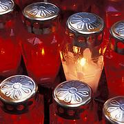Votive Candles outside a Chapel in Rovinj, Croatia