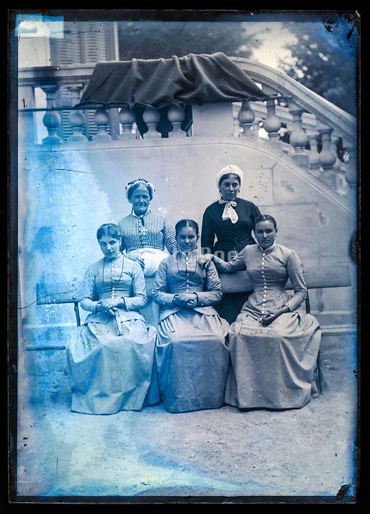 domestic servants and maids group portrait France ca 1920s