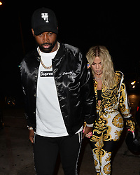 Khloe Kardashian and Tristan Thompson Arrive to Craig in Style. 17 Aug 2018 Pictured: Khloe Kardashian, Tristan Thompson. Photo credit: 42 / MEGA TheMegaAgency.com +1 888 505 6342