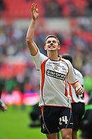 Tom Craddock of Luton Town  celebrates the win<br /> Luton Town vs Scunthorpe United<br /> Johnstone's Paint Trophy, Wembley Stadium, UK<br /> 05/04/2009. Credit Colorsport/Dan Rowley