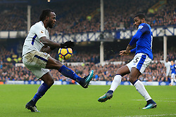 23rd December 2017 - Premier League - Everton v Chelsea - Victor Moses of Chelsea battles with Cuco Martina of Everton  - Photo: Simon Stacpoole / Offside.