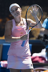 MELBOURNE, Jan. 20, 2019  Ashleigh Barty of Australia celebrates after the women's 4th round match between Maria Sharapova of Russia and Ashleigh Barty of Australia at the 2019 Australian Open in Melbourne, Australia, Jan. 20, 2019. (Credit Image: © Lui Siu Wai/Xinhua via ZUMA Wire)