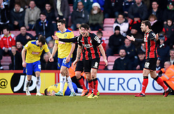 Bournemouth's Harry Arter is aghast at referee's decision - Photo mandatory by-line: Paul Knight/JMP - Mobile: 07966 386802 - 14/02/2015 - SPORT - Football - Bournemouth - Goldsands Stadium - AFC Bournemouth v Huddersfield Town - Sky Bet Championship