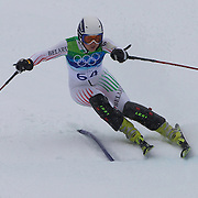Winter Olympics, Vancouver, 2010. Maria Shkanove, Belarus, in action in the Alpine Skiing Ladies Slalom at Whistler Creekside, Whistler, during the Vancouver Winter Olympics. 24th February 2010. Photo Tim Clayton