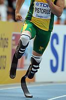 ATHLETICS - IAAF WORLD CHAMPIONSHIPS 2011 - DAEGU (KOR) - DAY 2 - 28/08/2011 - MEN 400M - OSCAR PISTORIUS (RSA) - PHOTO : FRANCK FAUGERE / KMSP / DPPI
