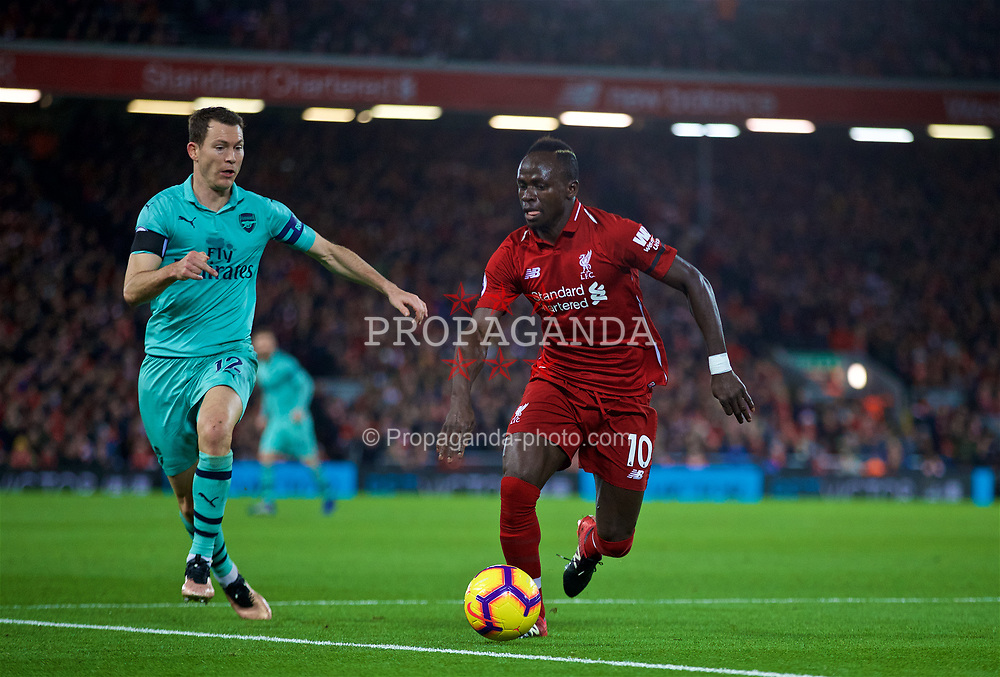 LIVERPOOL, ENGLAND - Saturday, December 29, 2018: Liverpool's Sadio Mane during the FA Premier League match between Liverpool FC and Arsenal FC at Anfield. (Pic by David Rawcliffe/Propaganda)