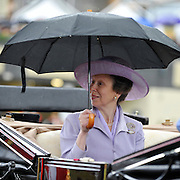 © licensed to London News Pictures. ASCOT, UK.  16/06/11. Princess Anne. Ladies Day at Royal Ascot 16 June 2011. Royal Ascot has established itself as a national institution and the centrepiece of the British social calendar as well as being a stage for the best racehorses in the world. Mandatory Credit Stephen Simpson/LNP