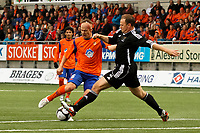 Fotball, <br /> 30.06.2011 , <br /> europa league , <br /> 1 quaql 1 leg,<br /> Aalesund - neath fc 4-1 ,<br /> Color line stadion ,  <br /> <br /> Magnus sylling olsen - aalesund<br /> Kristian o'leary - neath fc<br /> Foto: Richard brevik , Digitalsport
