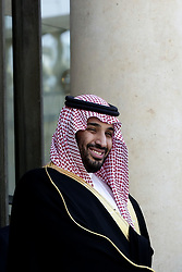 File photo - French President Francois Hollande welcomes Saudi Defense Minister Prince Mohammed bin Salman bin Abdul Aziz al-Saud prior to a meeting at the Elysee Presidential Palace in Paris, on June 24, 2015. Saudi Arabia's king has appointed his son Mohammed bin Salman as crown prince - replacing his nephew, Mohammed bin Nayef, as first in line to the throne. Prince Mohammed bin Nayef, 57, has been removed from his role as head of domestic security, state media say. Photo by Stephane Lemouton/ABACAPRESS.COM