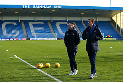 Ollie Clarke and Joe Partington of Bristol Rovers arrive at The MEMS Priestfield Stadium, home of Gillingham for the Sky Bet League One fixture - Mandatory by-line: Robbie Stephenson/JMP - 16/12/2017 - FOOTBALL - MEMS Priestfield Stadium - Gillingham, England - Gillingham v Bristol Rovers - Sky Bet League One