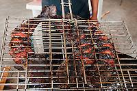 Nigeria - Smoking giant catfish