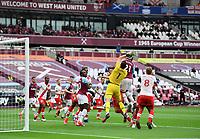 Football - 2020 / 2021 Premier League - Final Round - West ham United vs Southampton - London Stadium<br /> <br /> Southampton's Alex McCarthy battles with West Ham United's Jarrod Bowen.<br /> <br /> COLORSPORT/ASHLEY WESTERN