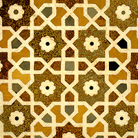Asia, India, Agra. Mosaic Detail at Itimad-ud-Daulah, known as the Jewel Box or Baby Taj.