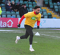 Lincoln City's Bruno Andrade during the pre-match warm-up<br /> <br /> Photographer Andrew Vaughan/CameraSport<br /> <br /> The EFL Sky Bet League Two - Lincoln City v Northampton Town - Saturday 9th February 2019 - Sincil Bank - Lincoln<br /> <br /> World Copyright © 2019 CameraSport. All rights reserved. 43 Linden Ave. Countesthorpe. Leicester. England. LE8 5PG - Tel: +44 (0) 116 277 4147 - admin@camerasport.com - www.camerasport.com