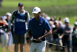 May 16, 2019 - Bethpage, New York, United States - Tiger Woods walks off the 17th green during the first round of the 101st PGA Championship at Bethpage Black. (Credit Image: © Debby Wong/ZUMA Wire)
