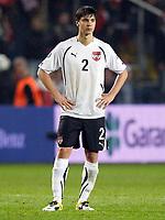 Fotball<br /> Tyrkia v Østerrike <br /> 29.03.2011<br /> Foto: Gepa/Digitalsport<br /> NORWAY ONLY<br /> <br /> Bild zeigt die Enttaeuschung von Aleksandar Dragovic (AUT)