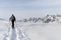 THEMENBILD - Skitourengehen in Osttirols Schobergruppe. Aufgenommen am 12.02.2017 in Tirol, Österreich // Ski touring in the austrian alps. Tyrol, Austria on 2017/02/12. EXPA Pictures © 2017, PhotoCredit: EXPA/ Michael Gruber
