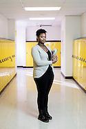 Bernestaine Harkins at Oakville High School in St. Louis County