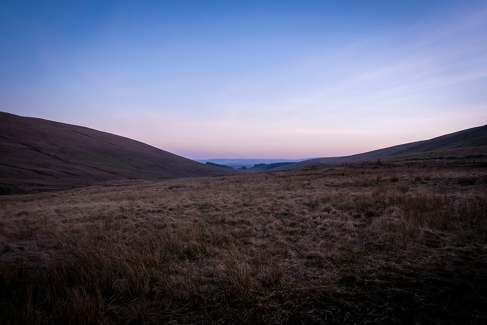 Sunset across Senni valley moorlands of the Brecon Beacons National Park, Wales, Powys, UK.   (photo by Andrew Aitchison / In pictures via Getty Images)