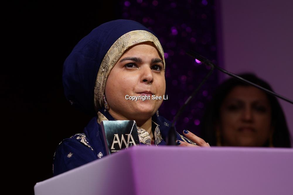 London, UK. 10th May 2017. Sport award to Anoushe Husain The Asian Women of Achievement Awards 2017 at the London Hilton on Park Lane Hotel. Photo by See li Credit: See Li