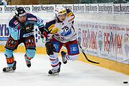 15.03.2011, Rapperswil-Jona, Eishockey NLA Playout, Rapperswil-Jona Lakers - HC Ambri-Piotta, Claudio Neff (LAK) gegen Martin Kariya (AMB) (Thomas Oswald/hockeypics)