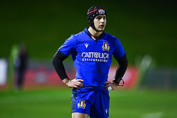 Cristian Lai of Italy<br /> <br /> Photographer Craig Thomas/Replay Images<br /> <br /> U20 Six Nations - Wales v Italy  - Friday 31st January 2020 - Stadiwm Zip World (Parc Eirias) - Colwyn Bay<br /> <br /> World Copyright © Replay Images . All rights reserved. info@replayimages.co.uk - http://replayimages.co.uk