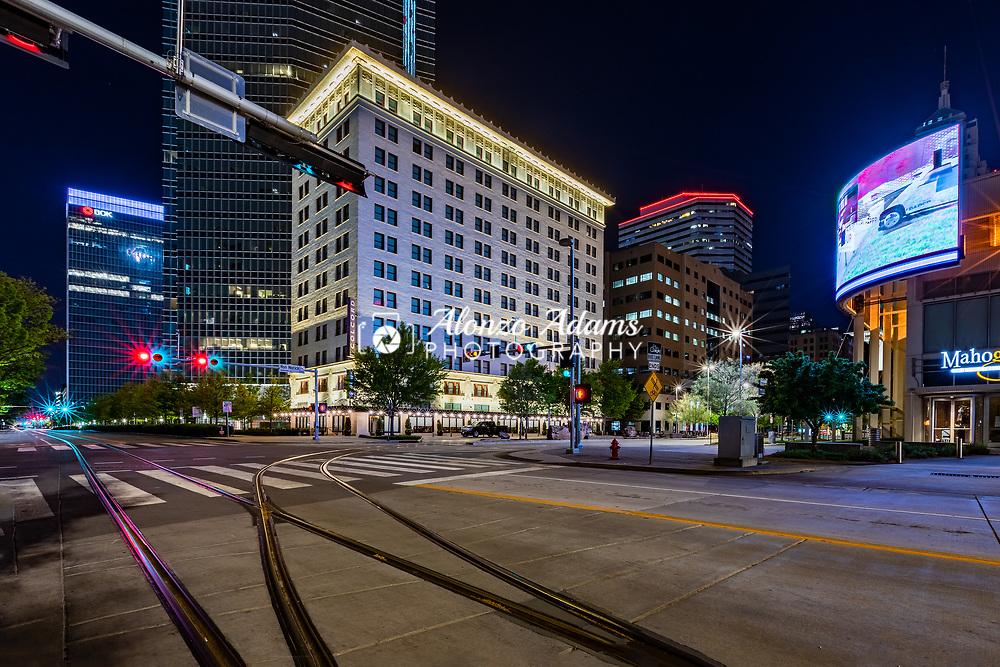 Downtown Oklahoma City at night. Photo copyright © 2020 Alonzo J. Adams.